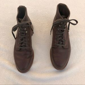 Wolverine 1000 Mile Boots Brown Leather 8D Lace Up